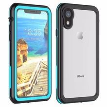 For iPhone XR Waterproof case life water Shock Dirt Snow Proof Protection for Xr 6.1 With Touch  ID Case Cover
