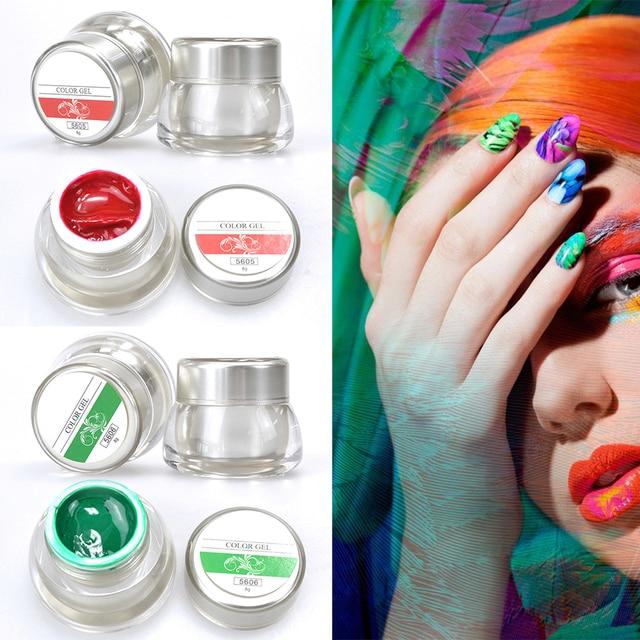 Brand New DIY Nail Art Colors 3D Nail Art Paint Color Gel Draw ...