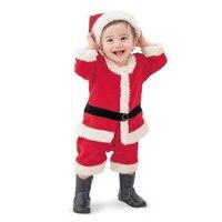 Bán nóng Dễ Thương Bé Trai Rompers 2 cái Suits Baby Quần Áo Sơ Sinh Sets Giáng Sinh Santa Claus Trẻ Sơ Sinh Quần Áo Năm Mới