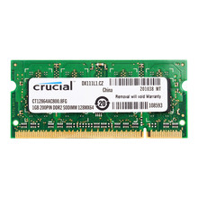 Mémoire Pc Portable Crucial DDR2 800MHZ DDR2 1 GO 2 GO 1.8V CL6 200pin ordinateur portable RAM ddr2 2GB = 2 pièces * 1G PC2-6400SS(China)