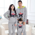 Family Clothing Hooded Sets Matching Mother Daughter Clothes Family Look Father Baby Sport Set Suits Parent-child Outfit Red