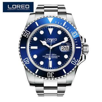 LOREO étanche 200m Montre de sport hommes célèbres montres mécaniques mâle horloge Relojes Deportivos Herren Uhren Reloj Hombre Montre