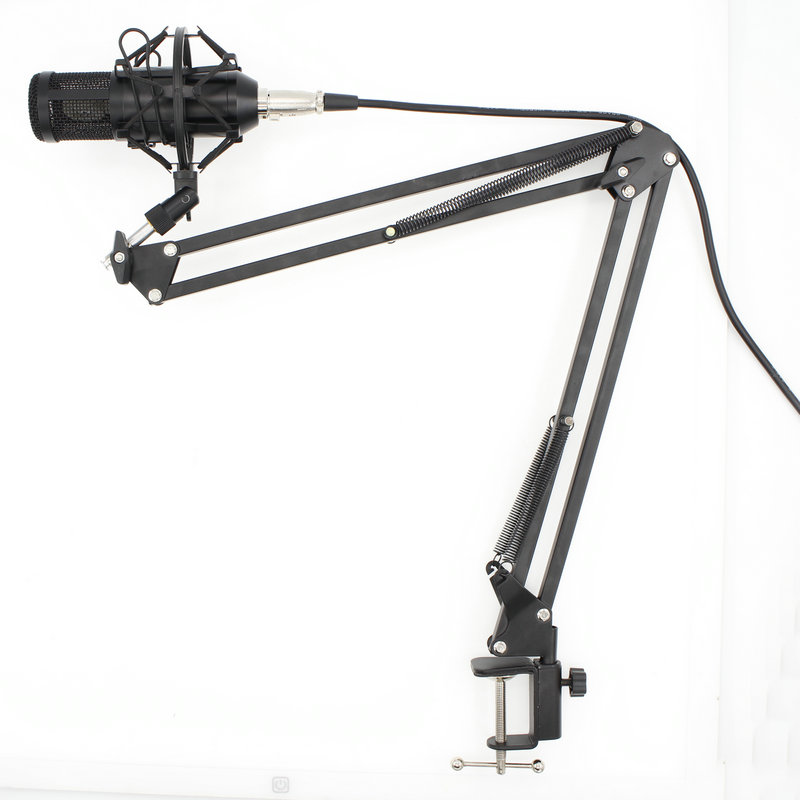 Microphone Professional BM800 Condenser KTV Microphone Pro Audio Studio Vocal Recording Mic KTV Karaoke+ Metal Shock Mount bm800 condenser microphone kit studio suspension boom scissor arm sound card 3 5mm wired vocal recording ktv karaoke microphone