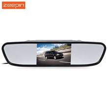 Zeepin 4.3 дюймов Full HD Автомобильный Зеркало заднего вида 12 В ЖК-дисплей заднего автомобилей заднего вида Мониторы с Ночное видение автопарк Мониторы