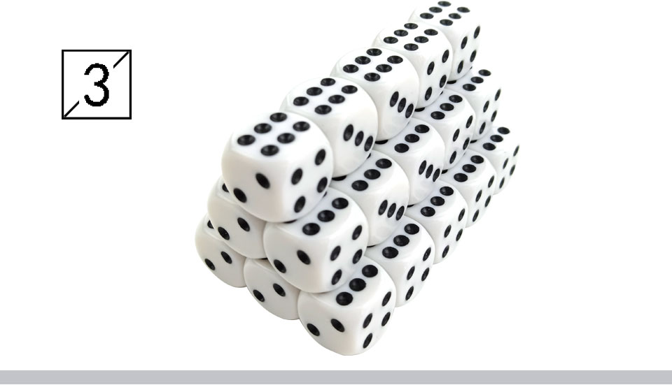 Yernea High-quality 30PcsLot 16mm Dice Set White Black Point Drinking Dice Acrylic White Round Corner D6 Points Dice Club Party (4)
