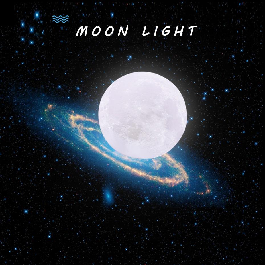 Led 3D moon lamp USB Rechargeable Luna