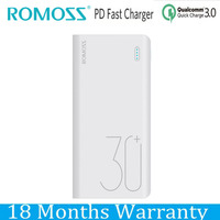 Romoss Power Bank 30000mah Power Delivery PD Powerbank 18650 QC 3.0 9V 12V for iPhone X 9 Xiaomi Mi8 Samsung S9 Nexus 5X 6P
