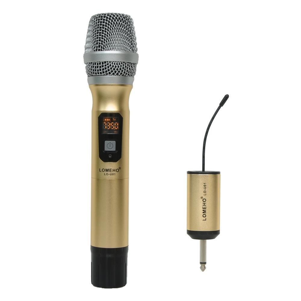 1 Way Metal Handheld Transmitter Wireless Microphone Outdoor Portable Wireless Mic Camera Microphone Party Karaoke Microphone karaoke vintage microphone