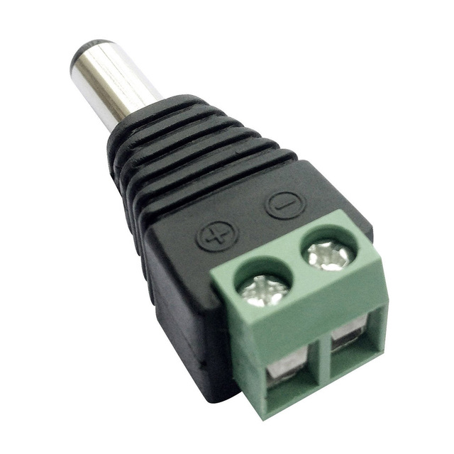 5pcs Female +5 pcs Male DC connector 2.1*5.5mm Power Jack Adapter Plug Cable Connector for 3528/5050/5730 led strip light