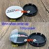 WHOLESALE 100PC Car Wheel Center Cap Cover 56mm Auto Wheel Rim Cap Decoration 2.2inch SSR logo Emblem Black/silver Accessorie