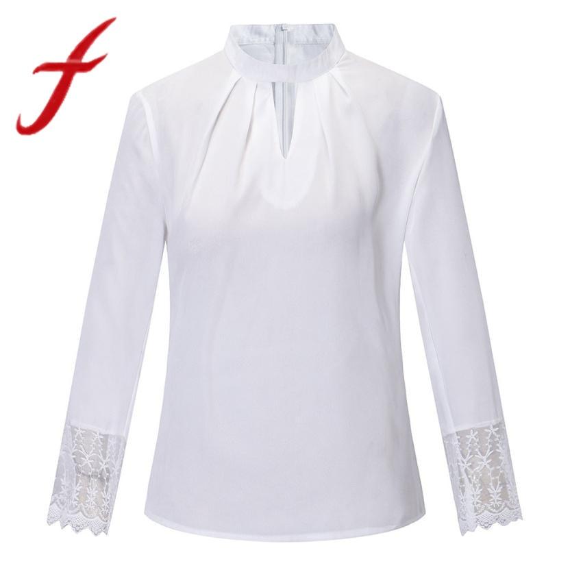 96f59ea2b5d Empalme Mujer Otoño Grande Señoras Feitong Nuevo rojo blanco Moda Larga De  Blusas Talla Camisa azul ...