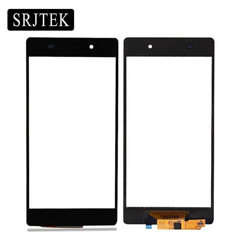 New Black Écran Tactile 5.2 pour Sony Xperia Z2 L50w D6502 D6503 D6543 Panneau Lentille Du Capteur En Verre de Remplacement Avec 3 M Bande
