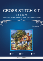 3th 46 43 Needlework Crafts 14CT Embroidery Cross Stitch Counted Cross Stitch Kit Floss Fabric DIY