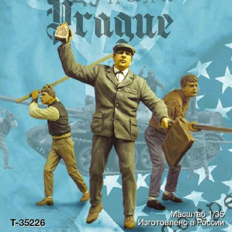 Unpainted-Kit Soldier Resin Model Themes Prague Military 3-Figures Autumn Unassembled