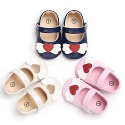 Модная детская обувь бренд из искусственной кожи мальчик девочка первые ходунки Принцесса любовь бант обувь мягкая подошва Нескользящая