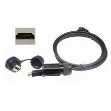 HDMI 2,0 macho a macho IP68 cable impermeable con hdmi hembra toma a prueba de agua conector adaptador de enchufe IP 68 hd Línea 4K 2160P