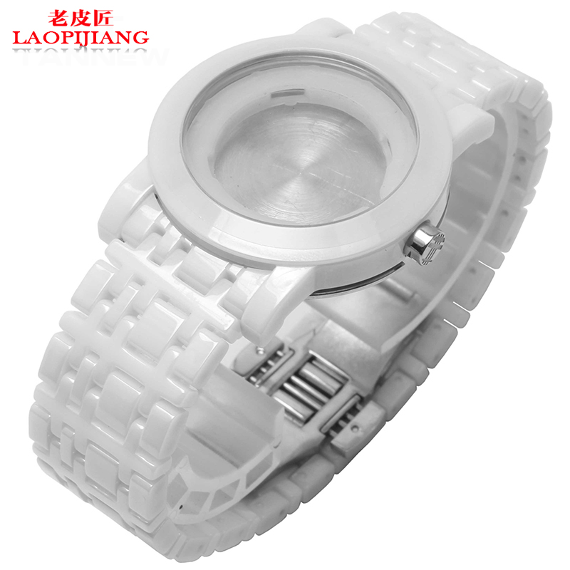 ФОТО Laopijiang Ceramic watchband female models for BU1870 White Bracelet watches accessories arc 18mm