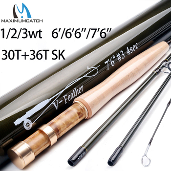 Maximumcatch Maxcatch Small Stream Creek Fly Fishing Rod 30T+36T SK Carbon Fiber Carbon Fiber Rod Tube 1/2/3wt 6'/6'6''/7'6''