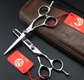 FAST Shipping!  professional pair of 6 inch japan steel 440C hairdressing high-grade hair scissors barber salon shears tesoura