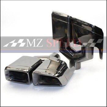 로고가있는 배기 머플러 듀얼 콘센트 배기 팁 머플러 엔드 파이프 벤츠 w212 w207 w204 (y 모델링)