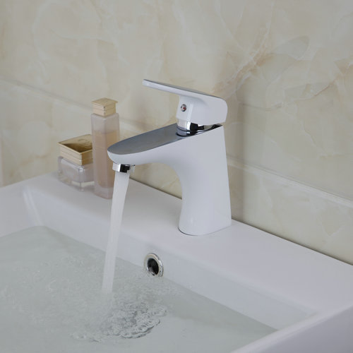 Painting Spray Brass Chrome Bathroom Basin Tap Vessel Sink Mixer Tap Chrome Deck Mount 97051 Single Handle Sink Faucet Mixer Tap gas gb2104 gas