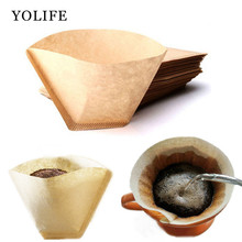 Yolife 102 Coffee Filters 100PCS Per Bag Coffee Dripper Filter paper American Coffee Maker Accessories Coffee Brewer V60 filter