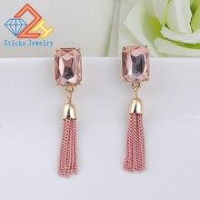 Womens fashion long chain earrings tassel earrings, free shipping