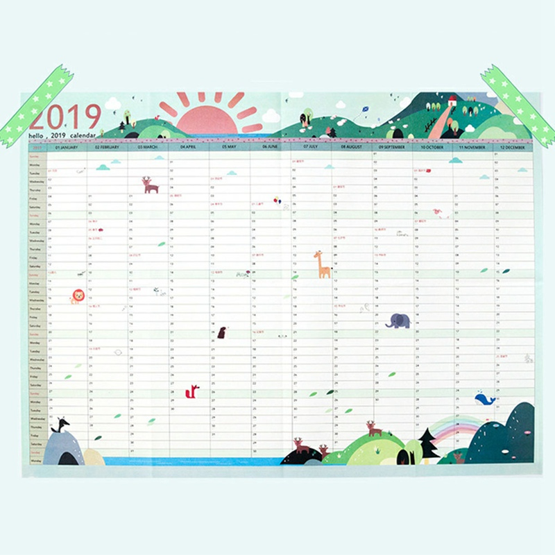 image about Large Daily Planner identified as US $0.84 5% OFF1Laptop 2019 365times Paper Wall Calendar Office environment Faculty Every day Planner Notes Fairly Significant Review Contemporary Yr Program Agenda 43*58cm-inside of Calendar
