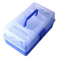 Hot 3 Floor Multifunctional Fishing Tackle Box Plastic For Float Set Fishing Tool Fishing Line Hook Tackle