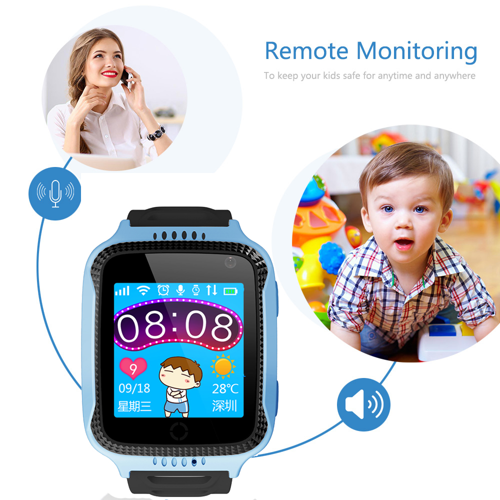 Maxinrytec Q528 Y21 Kid GPS Smart Watch With Flashlight Baby Watch SOS Call Location Device Tracker for Kid Safe pk q90 Q750