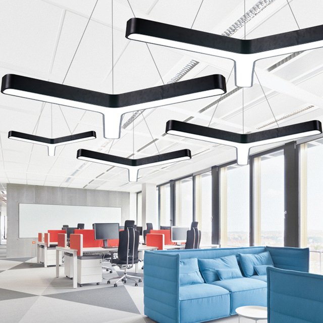 Modern Office Lighting Led Pendant Lights Combination Of Design Studio Circular Restaurant Clothing