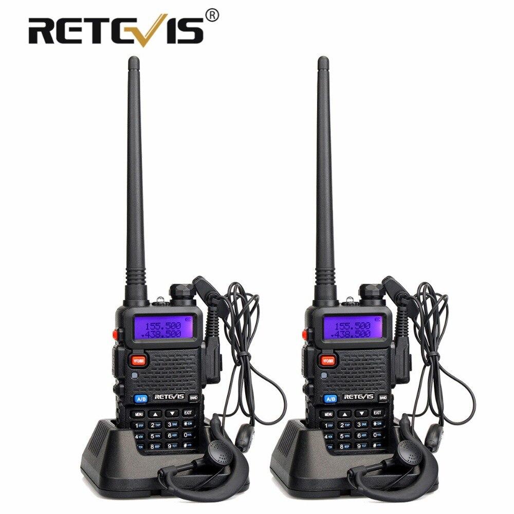 2 pcs Retevis RT-5R Talkie Walkie Radio 128CH VHF UHF Dual Band Ham Radio Amador Hf Émetteur-Récepteur 2 Voies cb radio Communicateur RT5R