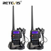 2pcs Retevis RT 5R Walkie Talkie Radio 128CH VHF UHF Dual Band Ham Radio Amador Hf Transceiver 2 Way cb Radio Communicator RT5R