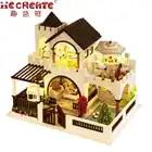 Bricolage maison de poupée meubles en bois mon rêve château filles jouet à la main maison de poupée en bois décoration bricolage jouets pour enfants fille cadeau - 2