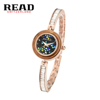 read r88063 Ladies Gold Watch Women Famous Brand Minimalist Mesh Simple Geneva Watch Women Waterproof Role Quartz Watch gifts