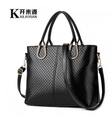 Handbag Crossbody Knitting Leisure Korean-Type Female 100%Genuine-Leather Women