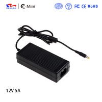 AC 100V 240V Converter Adapter DC 12 Volt 5 Amp Adapter 60W Power Supply 5 5mm