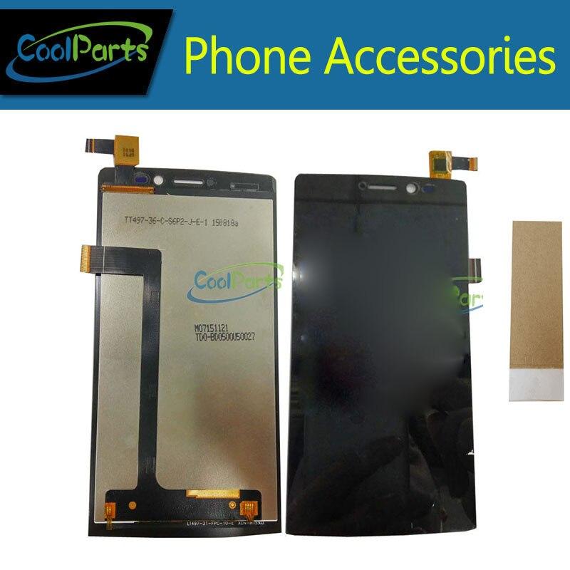 1 pc/lot Haute Qualité Pour Archos 50 Diamant LCD Affichage Et Écran Tactile Digitizer Assemblée Avec Ruban Noir Couleur