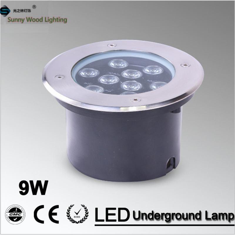 9W LED underground light ,160mm 85-265Vac input IP67 stainless steel led built in lamp ,outdoor waterproof inground spot light