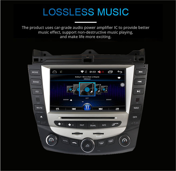 Best Car Radio Multimedia Android 8.0 for Honda Accord 7 2003-2007 car dvd audio stereo player gps Navigation wifi RDS 2din 3