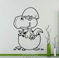 C Книги по искусству Ун динозавр ребенка в яйцо настенные Стикеры Детские винил наклейка для дома для мальчиков и девочек интерьер комнаты д...