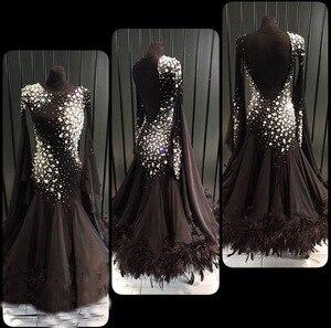 Image 1 - فستان أسود مخصص للرقص عصري عصري وفالس عصري. فستان رقص اجتماعي