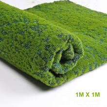 Square Mat Size 100*100cm Artificial Plant Turf Grass Green Hotel Shop Garden Wall Bedroom Living Room Decoration Grass(China)