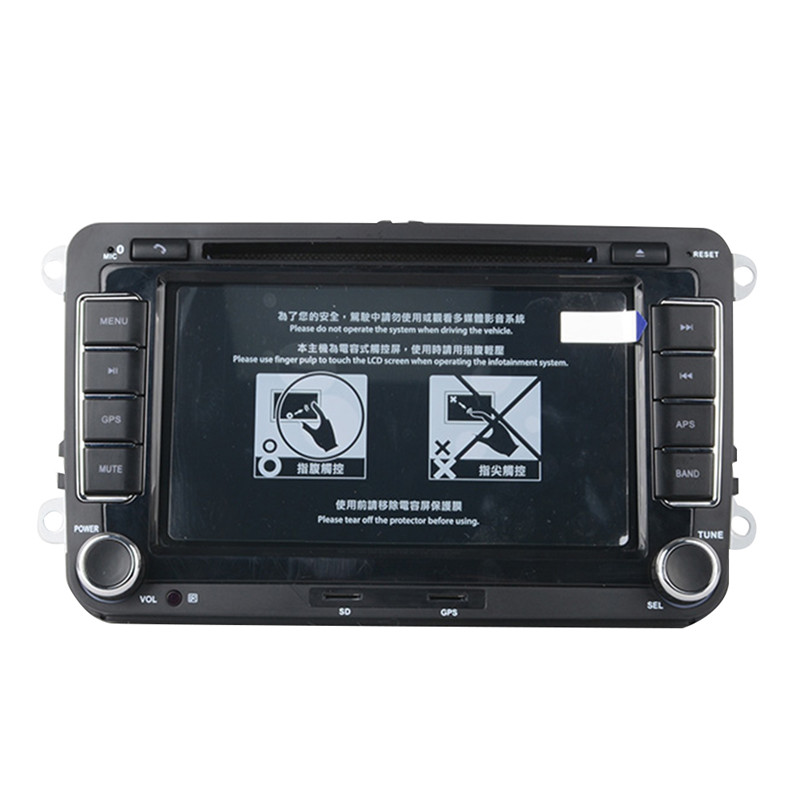 7 Inches 2 Din GPS Navigation Car DVD Radio Stereo Player for Volkswagen VW Golf 6 Touran Passat B7 Sharan Touran Polo Tiguan original new den so dvd navigation mechanism rae3370 for toyo ta b9004 b9001 vw mercedes lexuss audi 2g car audio gps