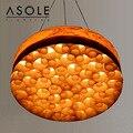 Moderne kurze kreative Tailand stil 48/60 cm holz pendent lampe für wohnzimmer esszimmer villa dekoration lampe A285-in Pendelleuchten aus Licht & Beleuchtung bei
