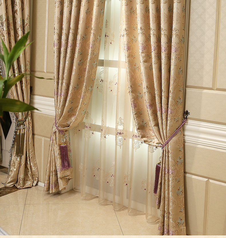 The new high end european style atmosphere jacquard living - European style curtains for living room ...