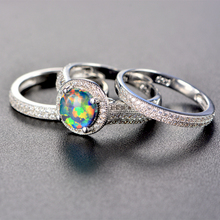 925 Sterling Silver Fire Opal Ring