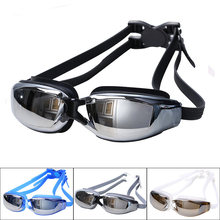 ccb3535bf Homens Mulheres Anti Fog Proteção UV Óculos de Natação Profissional  Galvaniza Óculos de Mergulho À Prova D  Água