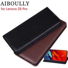 AIBOULLY для lenovo Z6 Pro Чехол Мягкий силиконовый кожаный чехол-портмоне с откидной крышкой оригинал для lenovo Z6 Pro Футляр чехлы Чехол для телефона