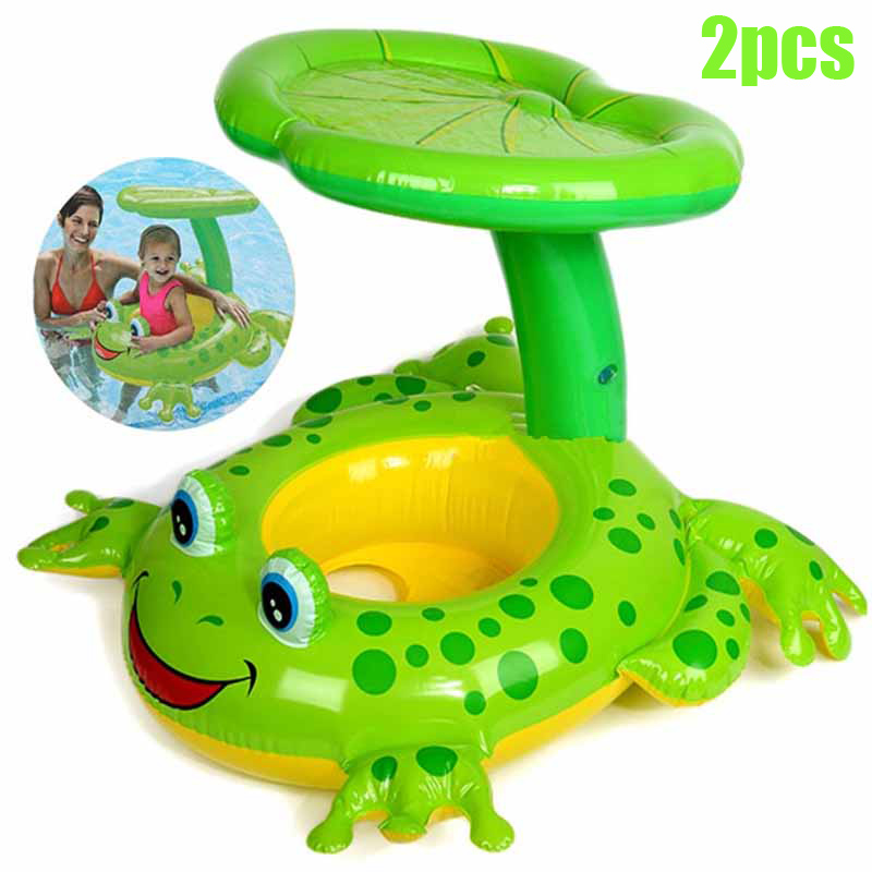2pcs Cute Kids Baby Child Inflatable Swimming Pool Accessories Seat Float Boat Water Sports